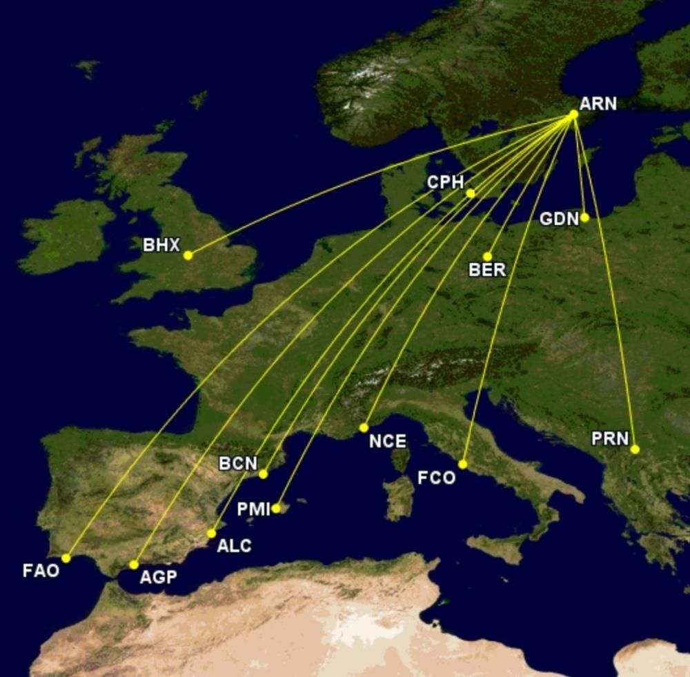 Eurowings coming Arlanda routes