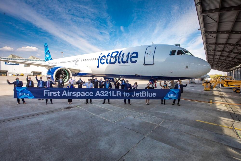 JetBlue Airbus A321LR Airspace