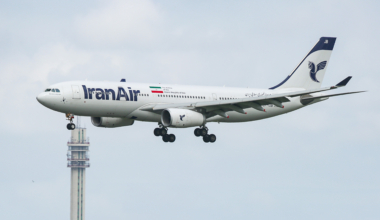 Iran Air Airbus A330 Landing