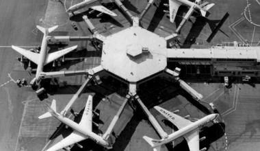 Docked DC-8s