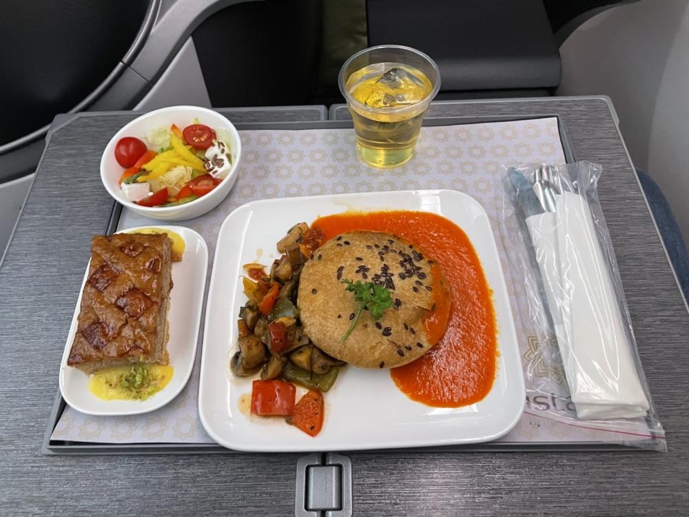 Vistara 787 Business Class Meal 1