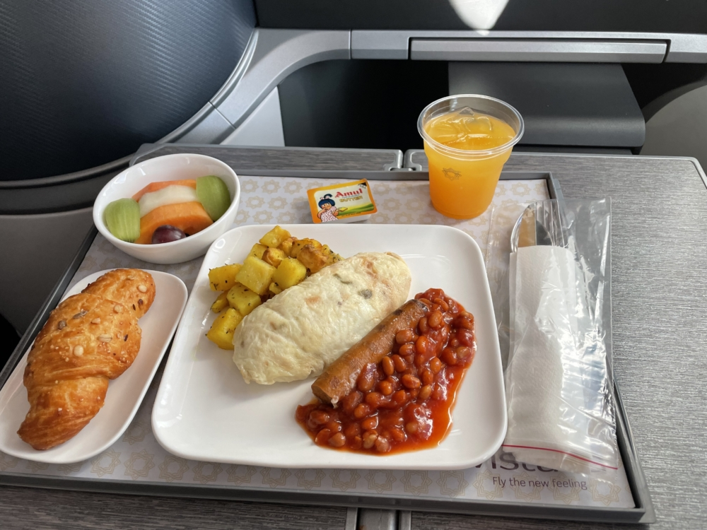 Vistara 787 Business Class Meal 2