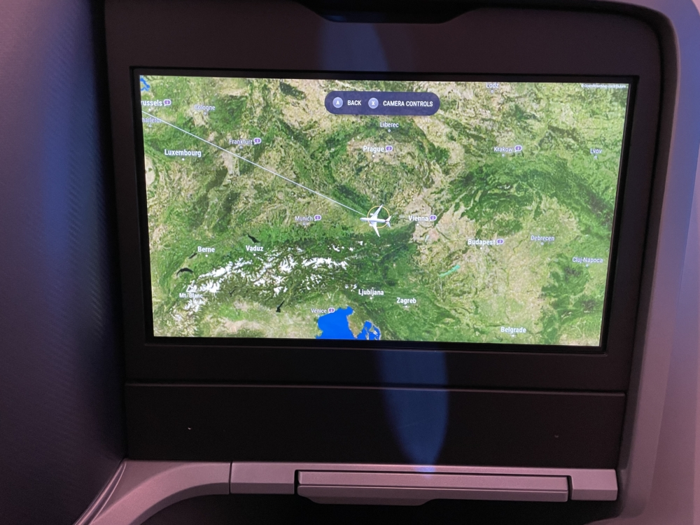 The IFE is touchscreen and was fairly responsive for any command. Photo: Pranjal Pande   Simple Flying