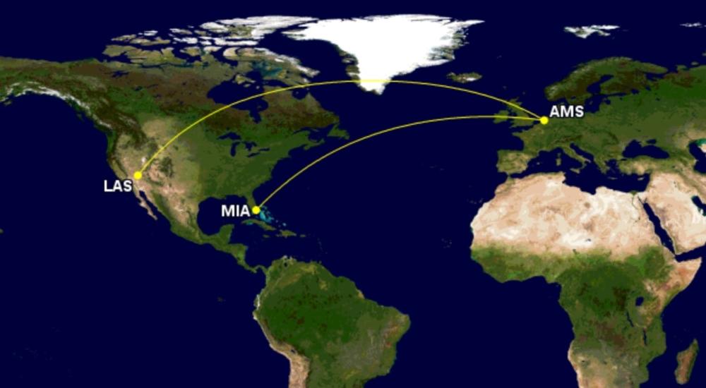 KLM to Miami and Las Vegas