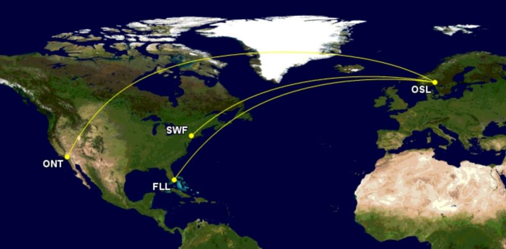 Norse Atlantic's initial three US routes