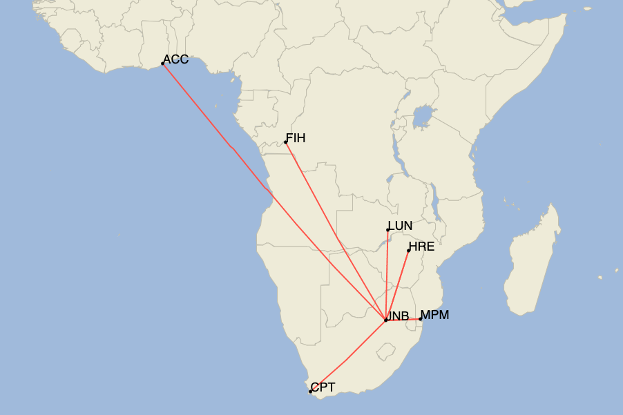South African Airways, Airbus A320, First Flight