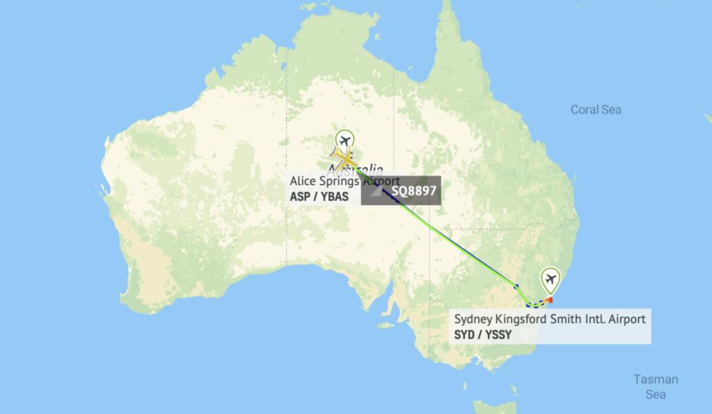 Singapore A380 flight path reactivation