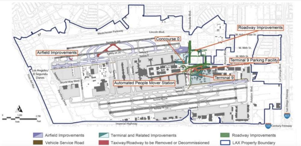 Los Angeles International Airport Closer To New Concourse And Terminal