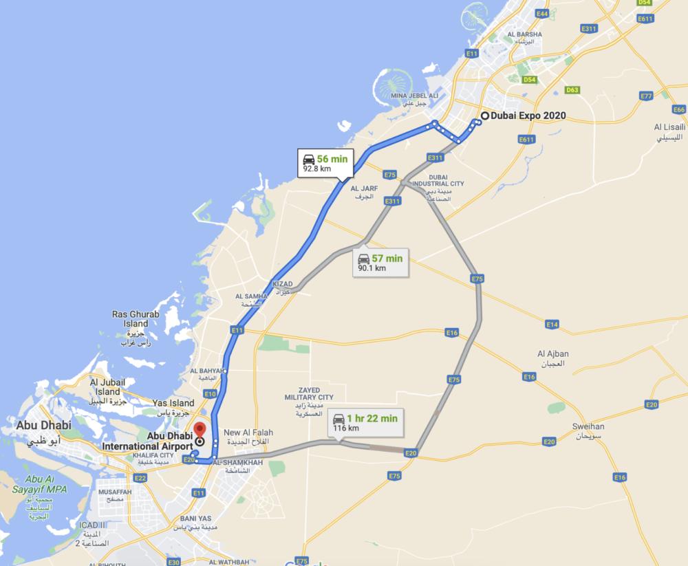 Abu Dhabi Airport to Expo 2020