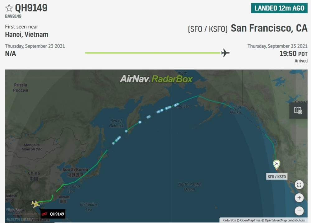 Vietnam's Bamboo Airways Conducts First Ever 787 Flight To The US