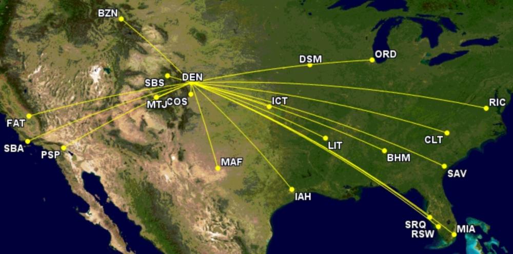 Southwest's additional Denver routes July 2021