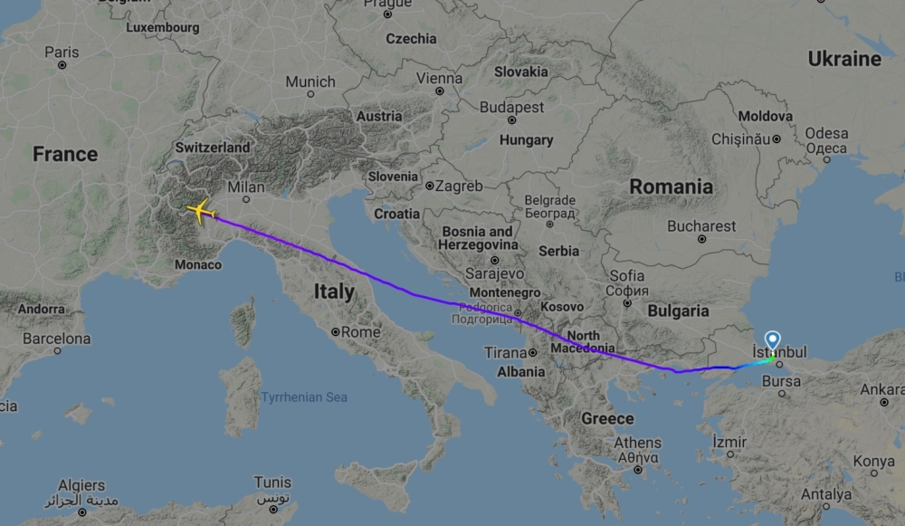 TK191 Istanbul to Dallas