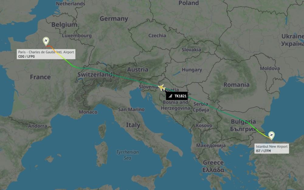 Turkish A350 to Paris CDG