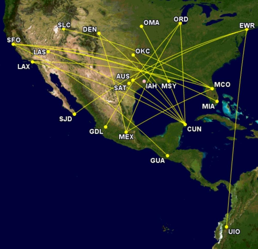 United's transit passengers over Houston