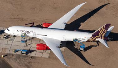 Vistara, Boeing 787, Paris