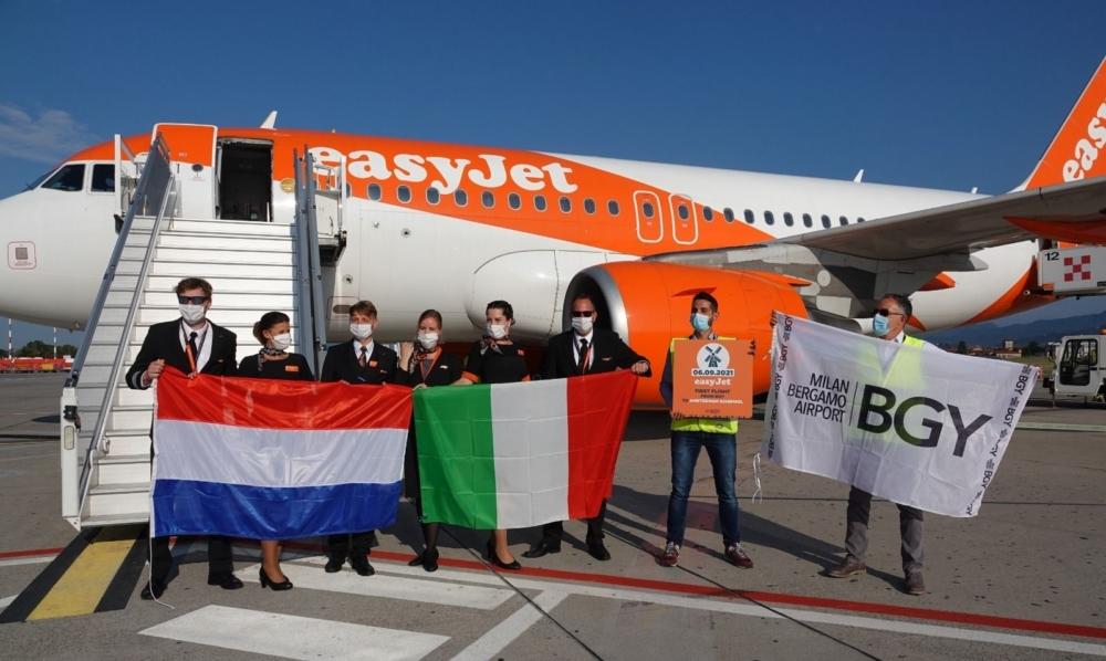 easyJet Amsterdam to Milan Bergamo