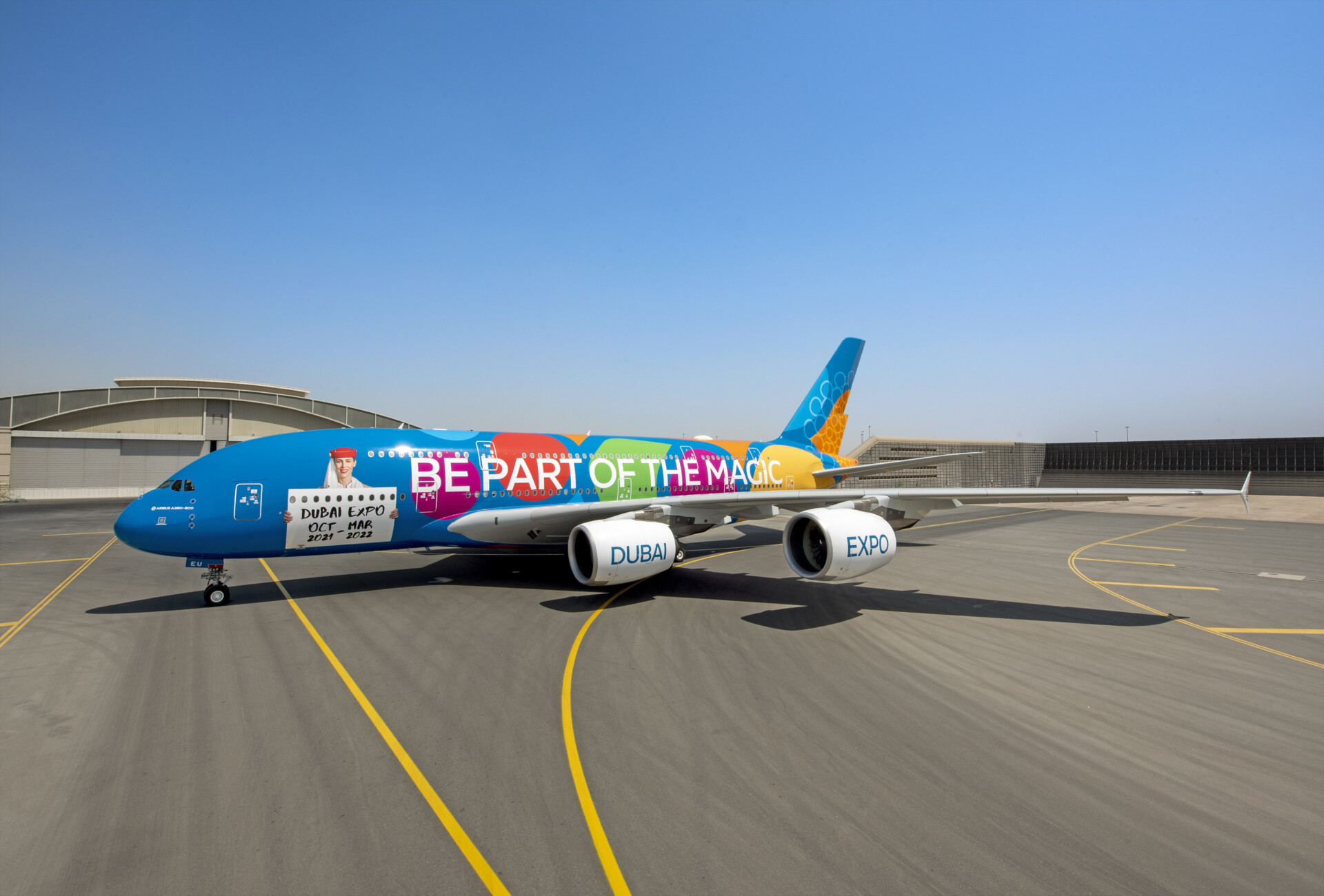 Emirates, Airbus A380, Expo Livery
