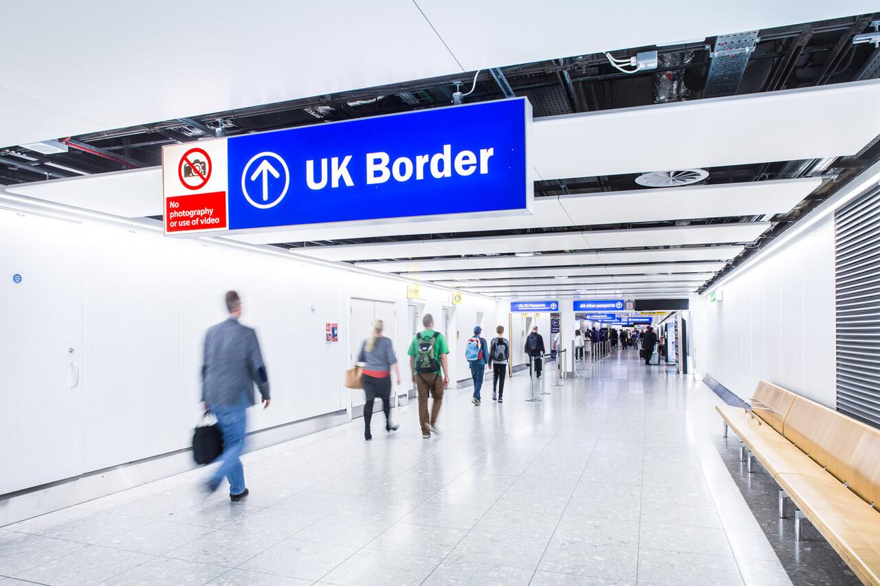 UK Border, E-Gates, Heathrow Airport