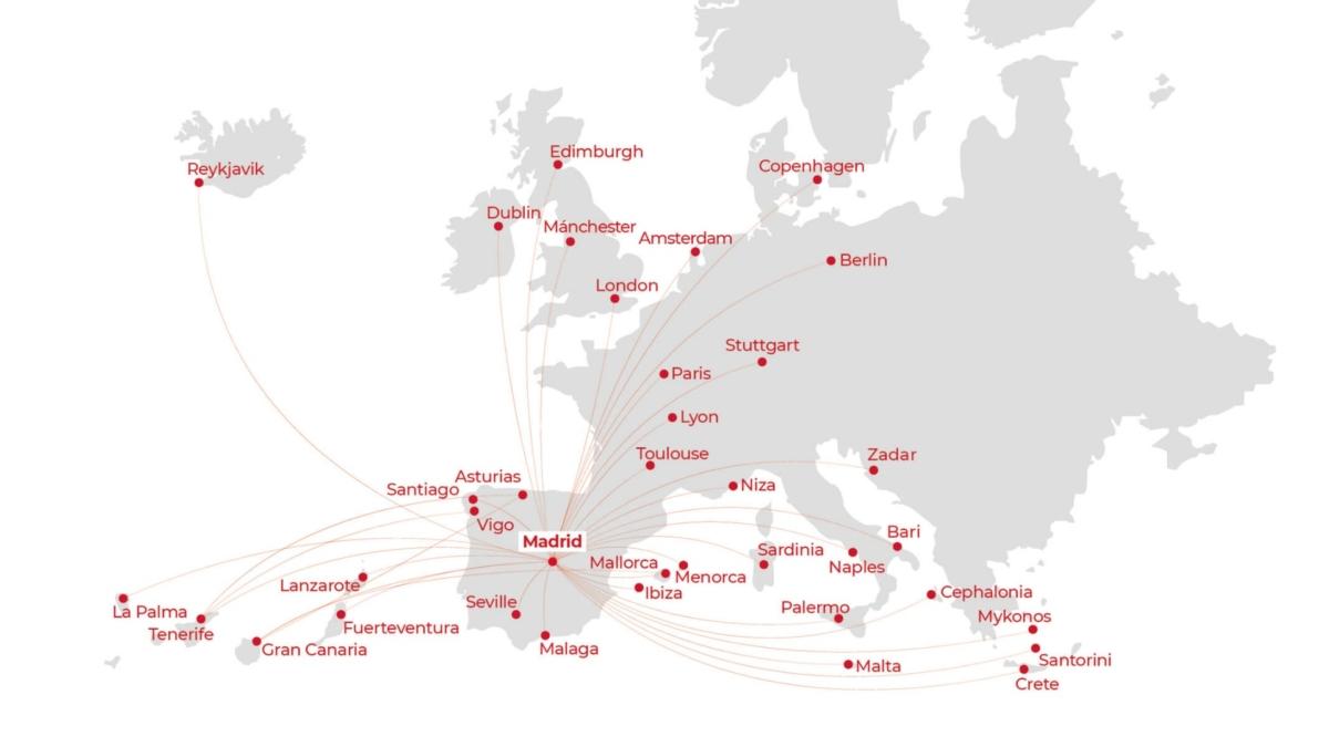Iberia Express routes