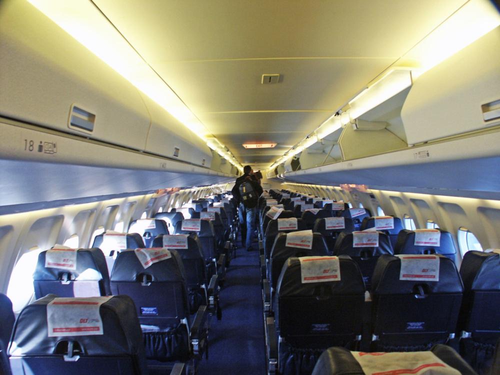 OLT Fokker 100 Cabin