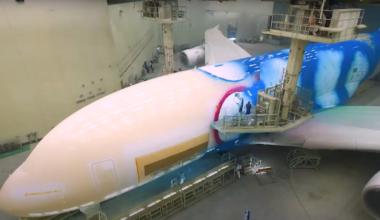 Emirates, Airbus A380, Paint Scheme