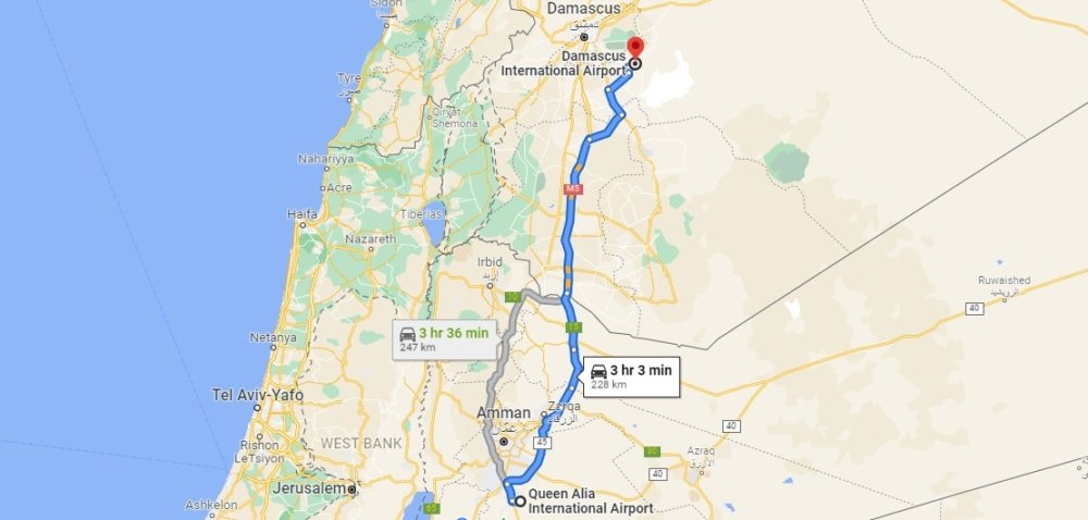 Amman Damascus Route