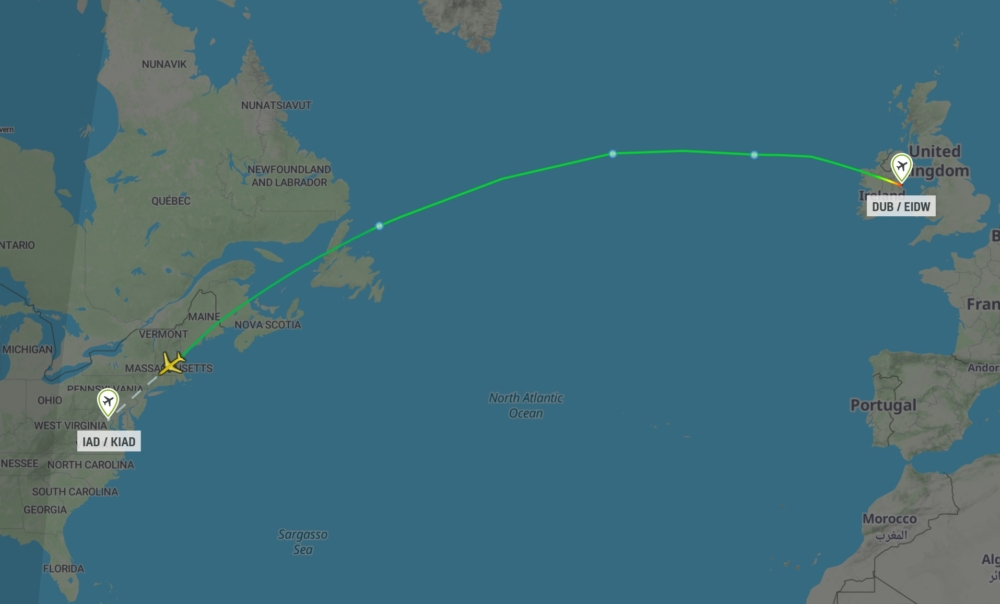 ET500 Addis Ababa to Dublin to Dulles
