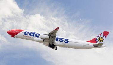 Edelweiss_A340_Takeoff