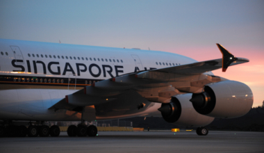 Singapore Airlines A380 Touches Down at Melbourne Airport
