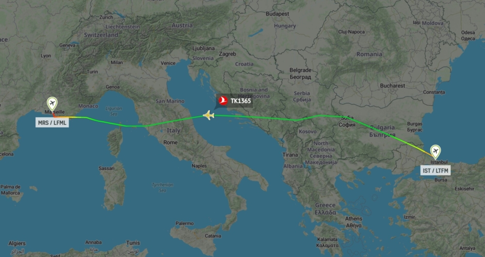 Istanbul to Marseille MAX 9