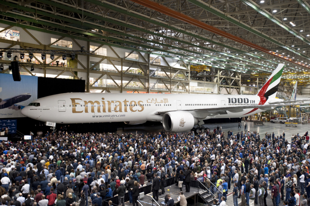 Emirates 777 Rollout Boeing Factory