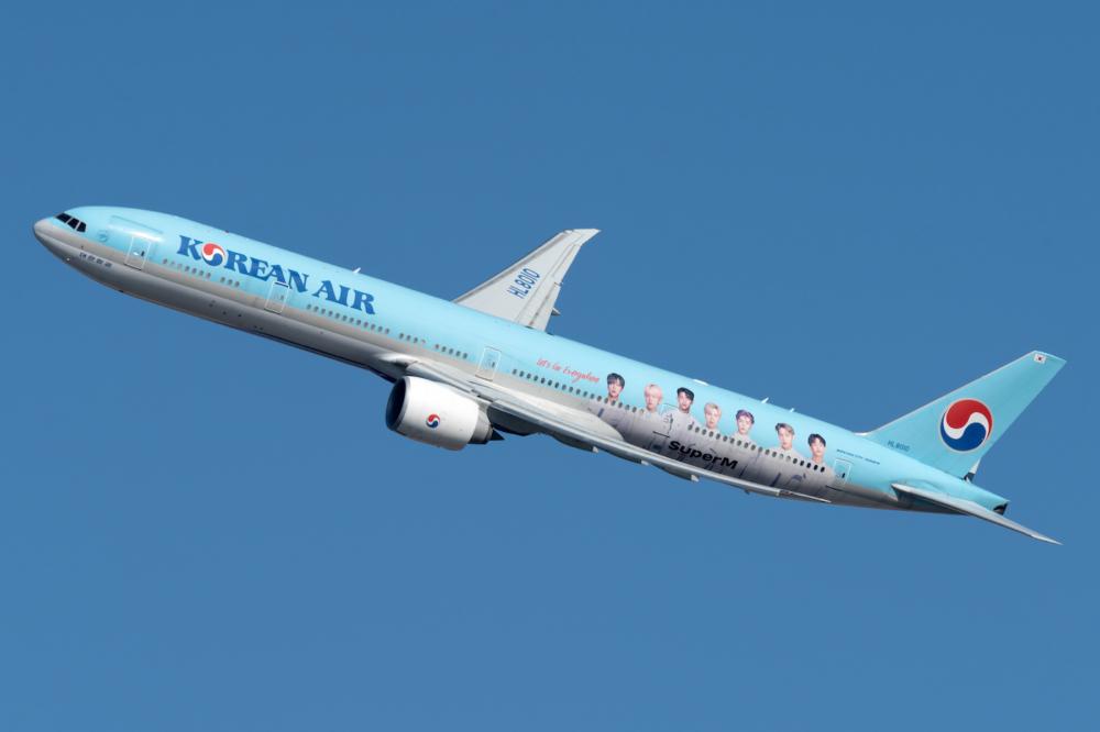 Korean Air (SuperM Livery) Boeing 777-3B5(ER) HL8010