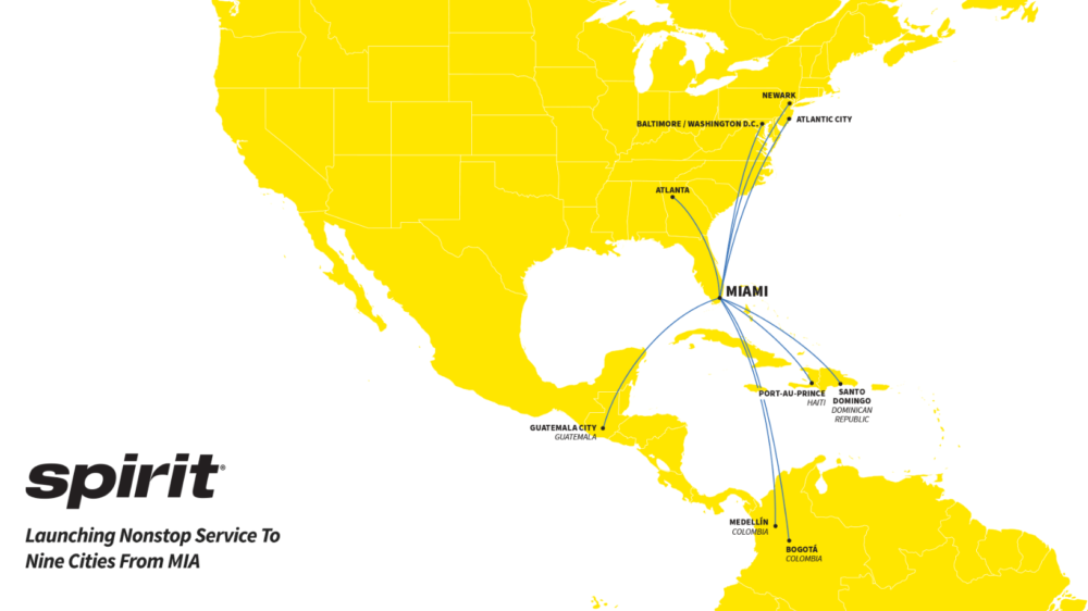 The Big Debut: Spirit Airlines Arrives At Miami With A Splash