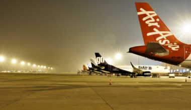 Parked Aircraft at the Bangalore International Airport