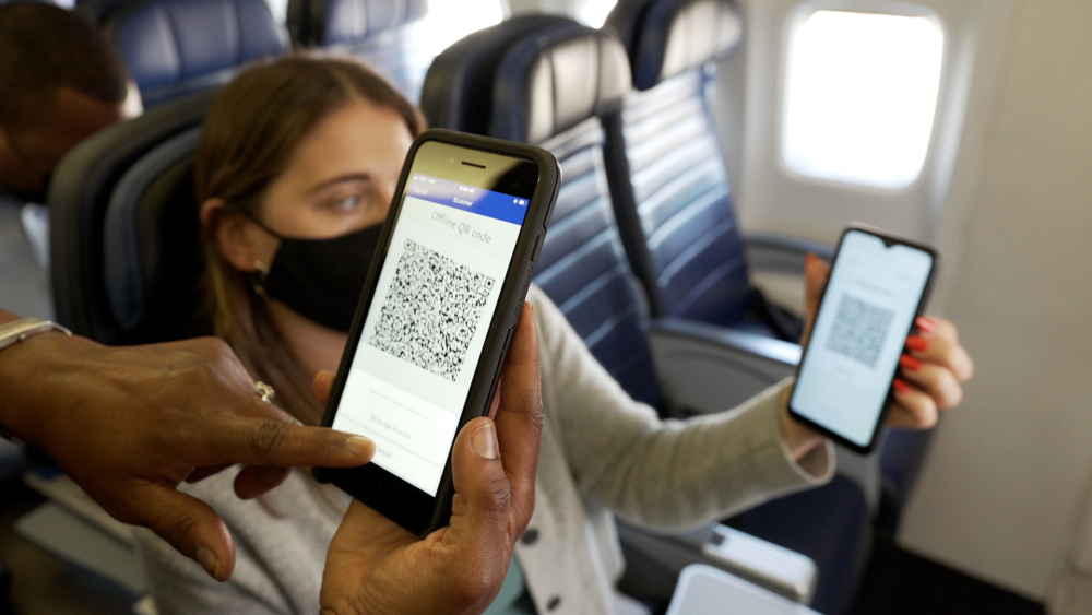 United Airlines Pioneers PayPal QR Code Payments Inflight