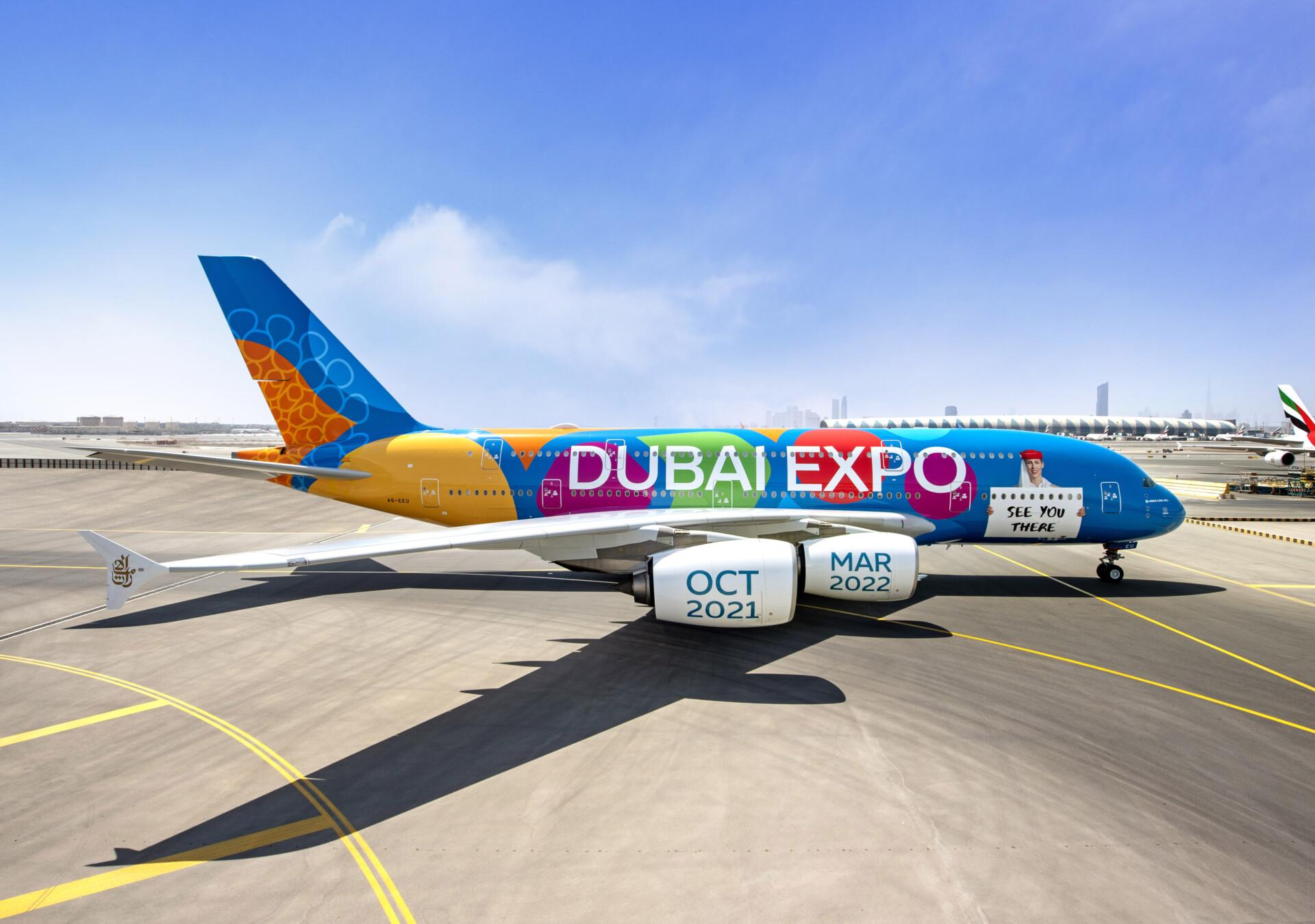 Emirates, Airbus A380, Dubai Flyby