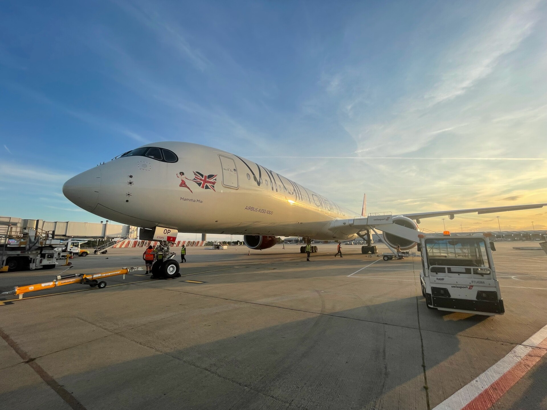 Virgin Atlantic, Airbus A350, London Stansted