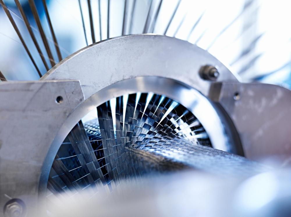 Airbus Carbon Fiber weaving